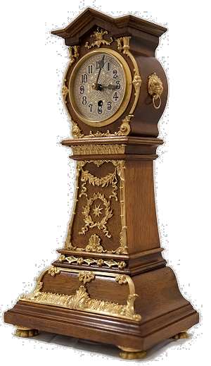 Lenzkirch Miniatur Standuhr Pendule Hinterzappler Empire 03