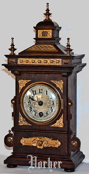 Lenzkirch Pendule Eiche Oak Clock 10